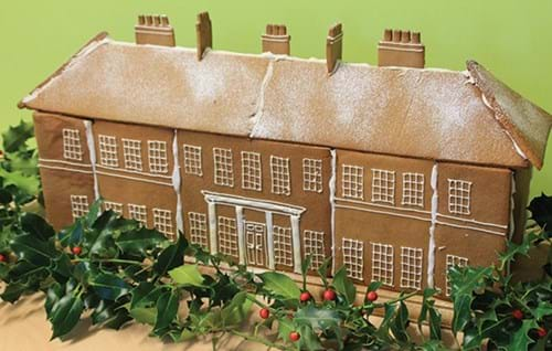 The finished gingerbread Rudding House