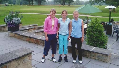 Junior members at Rudding Park Golf: Jess Fisher, Alice Boothroyd and Steph Davies