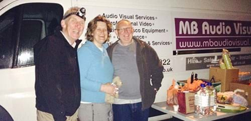Steph and Colin and Mike from MB Audio Visual