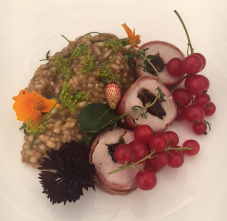 Rosemary's dish with redcurrants