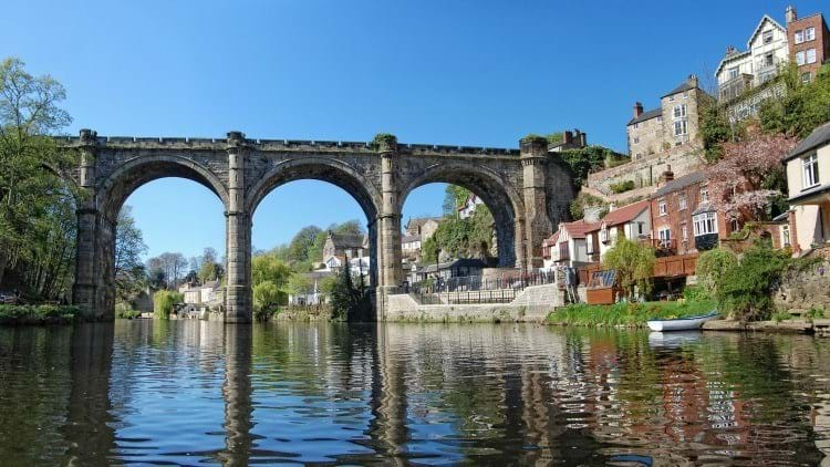The River Nidd and Bridge in Knaresborough