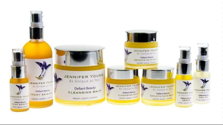 A range of Jennifer Young Skincare products