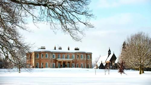 Rudding Park House in the snow