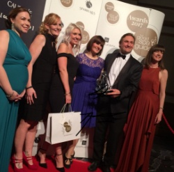 Rudding Park Spa team accept the Best Newcomer award at the Good Spa Guide Awards 2017