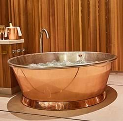 oversized copper bath