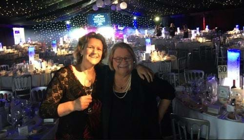 Steph with Rosemary Shrager