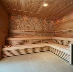 juniper log sauna