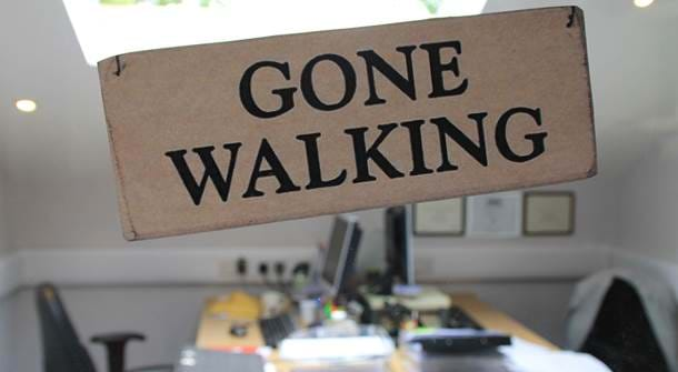 Gone Walking Sign