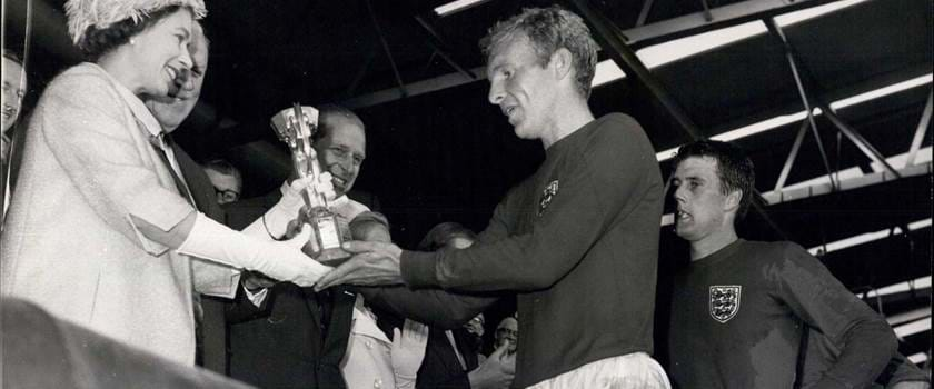 The Queen presents World Cup to Bobby Moore in 1966