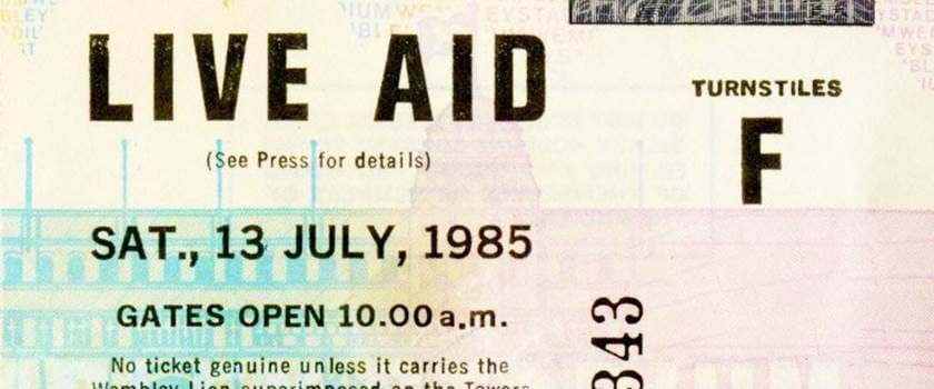 Live Aid Ticket 1985