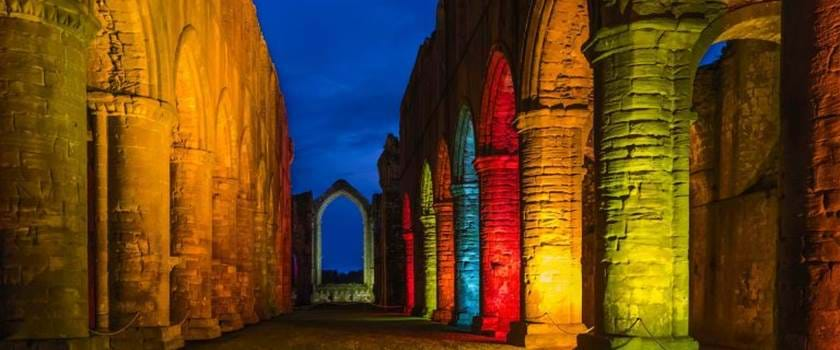 Fountains Abbey at Christmas